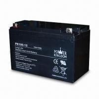 Solar Batteries with 12V Volatge and 100A Nominal Capacity, Measures 330 x 171 x 220mm Manufactures