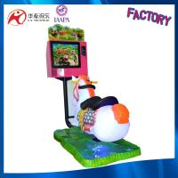coin operated Kid swing rides on horse indoor amusement games machine with LCD screen Manufactures