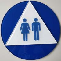 """Clear Acrylic Braille Toilet Signs , 12""""X12"""" Disabled Toilet Sign With OEM Service Manufactures"""