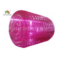 2.4m Diameter Adults Pink Inflatable Water Zorb Roller PVC Water Toy For Amusement Manufactures