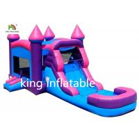 Girl Big Infltable Bounce House Dry Slide With CE Blower 5mL*4mW*3mH Manufactures