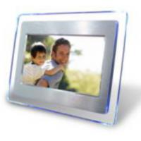 7inch Acrylic with Aluminum Alloy digital photo frame with four led lights Manufactures