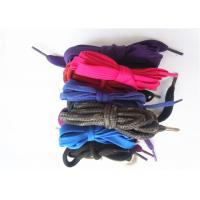 Nylon Waxed Flat Shoe Laces with Plastic Tips , High Tenacity Manufactures