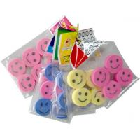 Polybag packed eraser Series in smile face shape Manufactures
