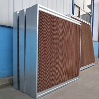 7090 Brown PVC Evaporative Cooling Pad Systems Manufactures