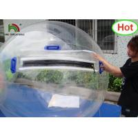 2m Dia PVC Inflatable Water Ball / Customized Japan Zipper Clear Water Walking Ball Manufactures