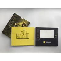 China Paper Material LCD video brochure card 7inch LCD screen video card with slide cover for biotech marketing on sale