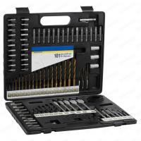 101pcs Metal Case Packaging Drill Bit Set with Masonry Drill Bit and SCREWDRIVER BITS Manufactures