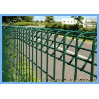 Powder Coated Welded Iron Wire BRC Garden Fence With V Shape Clamp Manufactures