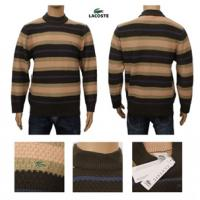 China Brand design lacoste men's strip knitted sweater cashmere sweater on sale
