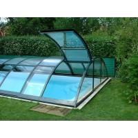 Custom Bent Glass , Tempered Bent Curved Glass For Pool Fencing Manufactures