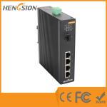 1 Gigabit FX SFP Fiber Port / 4 Gigabit TX Ports Industrial Gigabit Ethernet Switch Manufactures