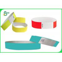 Buy cheap Uncoated Tyvek Event Wristbands , Tyvek Paper Wristbands For Party Rolls from wholesalers