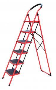 Silver Foldable 1.79m 150kg Steel Step Ladder Manufactures