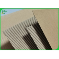 Natural Kraft Single Face Flute Corrugated Paper Board Rolls For Cup Sleeves Manufactures