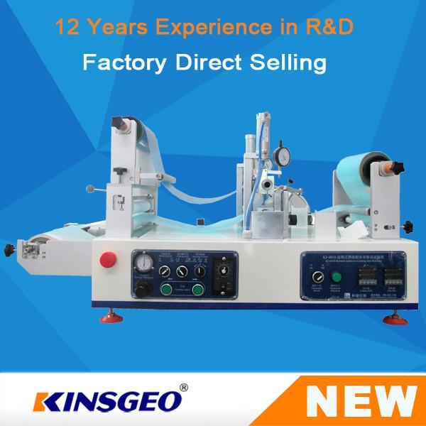Quality KJ-6018 Lab Continuous Hot Melt Coater , Hot Melt Coating Machine Digital Control for sale