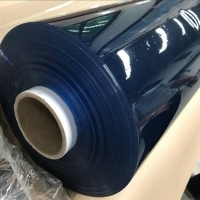 Soft Clear PVC Sheet Waterproof Transparent Pretty Surface Handle colorfull used