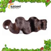 Cheap Fashion 18 inch Body Wave Dark Brown Indian Human Hair Weft for sale