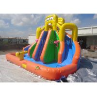 Yellow Inflatable Pool Slides For Inground Pools 8*6*6m CE EN14960 SGS EN71 Manufactures