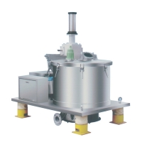 Stainelss Steel Scraper Bottom Discharge Basket Centrifuge / Continuous Flow Centrifuge Manufactures