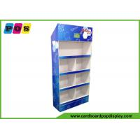 POS Store Cardboard Display Stands With 4 Trays Shelf And 10 Inch LCD Screen FL168
