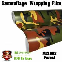 Camouflage Automotive Vinyl Wrapping Film bubble free 1.52*30m/roll - Forest Manufactures