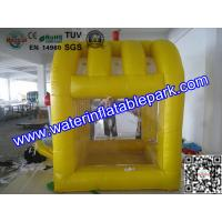 Yellow Inflatable Cash Cube For Play Center / Advertising Inflatable Cash Game Manufactures