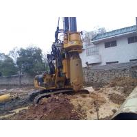 Small Hydraulic Piling Rig KR60C for Drilling 24m Depth Foundation Pile CE / ISO9001
