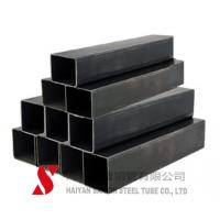 China Black Color Rectangular Steel Tubing ERW / Hot Rolled For Auto Parts on sale