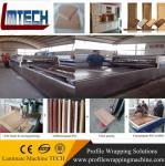 China Low price PVC kitchen cabinet door vacuum membrane press machine Manufactures
