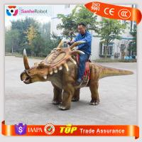 Handmade Electric Animal Animatronic Interactive Dinosaur Amusement Park Rides Manufactures