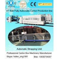 Automatic Corrugated Paperboard Flexo Printer Slotter Folder Gluer with Bunding Machine Manufactures