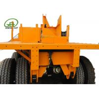 China 40ft Length Flatbed Semi Trailer , Heavy Duty Flatbed Trailer 30T - 60T Capacity on sale
