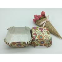 Food Safe PET Paper Baking Cups Disposable Cute Special Pattern For Cupcake / Bread Manufactures