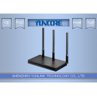 Black Metal Case SOHO Wifi Router With 3 MIMO Antenna 1Lan 1Wan Port Manufactures