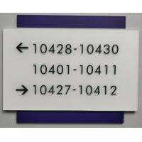Square Corner Wayfinding Room Signs With Braille Acrylic Face Panel Straight Edge Manufactures