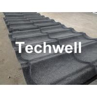 Sand Metal Stone Coated Roof Tile Machine , Steel Roof Tile Production Line Manufactures