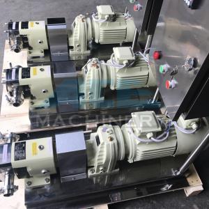 Stainless Steel Rotor Pump For Transfering High Viscous Liquid Food Pump  Sanitary Lobe Pump Manufactures