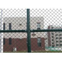 6 x 12 FT Green Chain Link Fence For Sports Court 4.0 MM Diamond Mesh Fence Manufactures