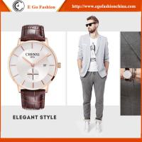 Trendy Watch for Business Man Sport Wristwatches Men Stainless Steel Genuine Leather Watch