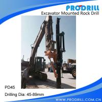 Hydraulic Excavator Mounted Rock Drilling Rig Manufactures