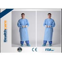 Lightweight Disposable Surgical Gowns With Knitted Cuff Blood Resistence 130x150 Sterile Coat Manufactures