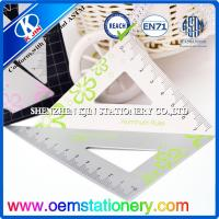 Office Triangle Metric Scale Ruler ,  45 Degree / 60 Degree Set Square Manufactures