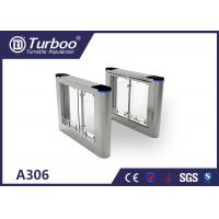 High Speed Flap Barrier Gate / Controlled Access Gates With Infrared Sensors Manufactures
