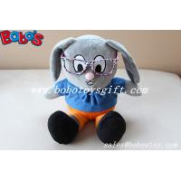 Stuffed Rabbit Toy Customized Made Mr Rabbit Toy With Glass Manufactures