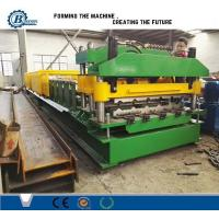18 Stands Color Coated Steel Step Roof Panel Roll Forming Machine For Building Manufactures