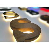 Customized Wooden Carving 3D Lettering Signage Halo Lit Type For Decor Manufactures