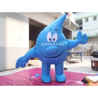 Water Drop Advertising Costumes , Light Weight inflatable mascot suit Manufactures