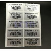 Custom Printable Security Stickers / Labels Moisture Proof For Chemical Packaging Manufactures