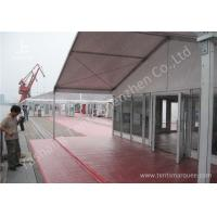 15M Clear Span Aluminum Outdoor Event Tent Designed With Transprent Glass Wall Manufactures